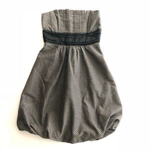 Zara Basic Strapless Pleated Bodice Bubble Dress